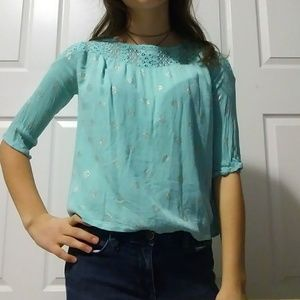 Girls blue blouse